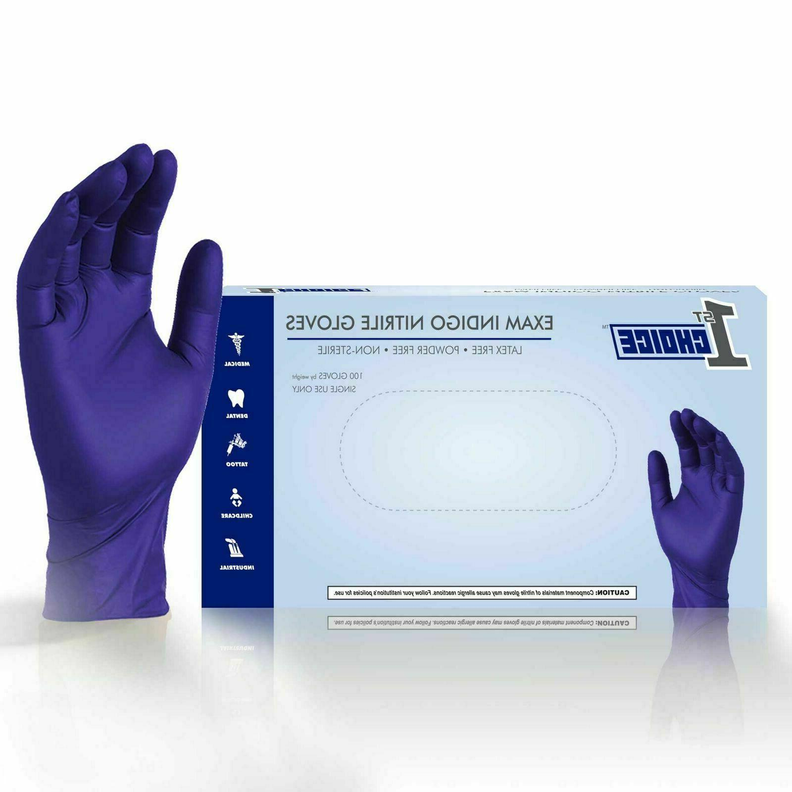 indigo medical nitrile exam latex free disposable