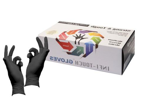 Infi-Touch Heavy Duty Nitrile Gloves, Strong & Tough, High C