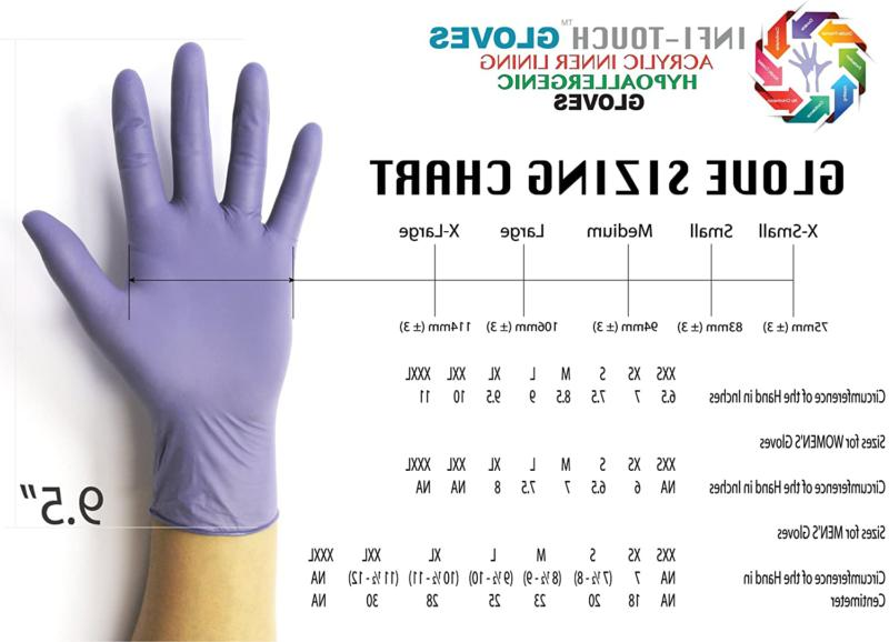 Infi-touch, Heavy Duty, Steel Blue, Nitrile Length,