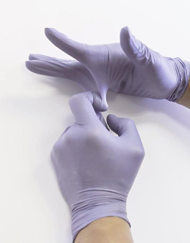 """Infi-touch, Duty, Blue, Nitrile Gloves, 9.5"""" Length, Powder Free, 6"""