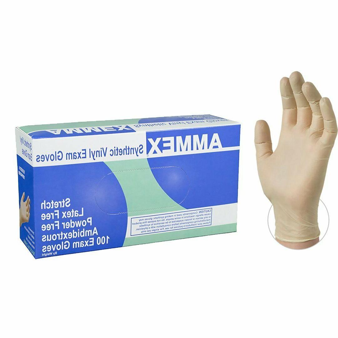 ivory medical stretch vinyl exam latex free