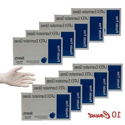 Latex Exam Gloves Powder Free SkinTx by TG Medical, 5 mil, 1