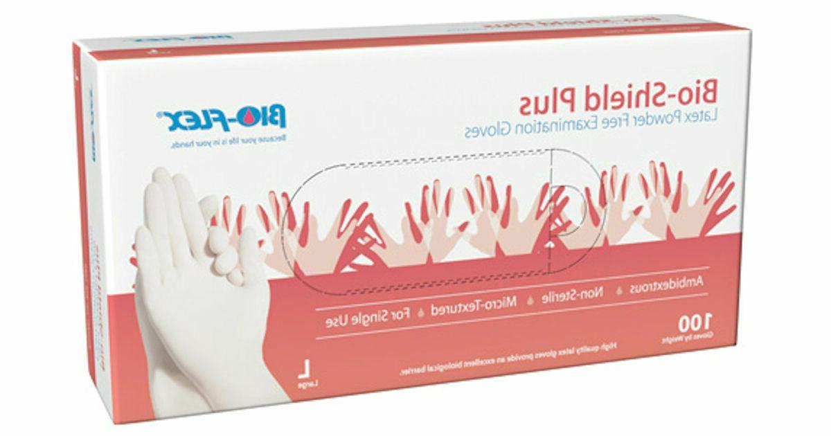 Nitrile Vinyl Latex Examination Gloves Free L, XL