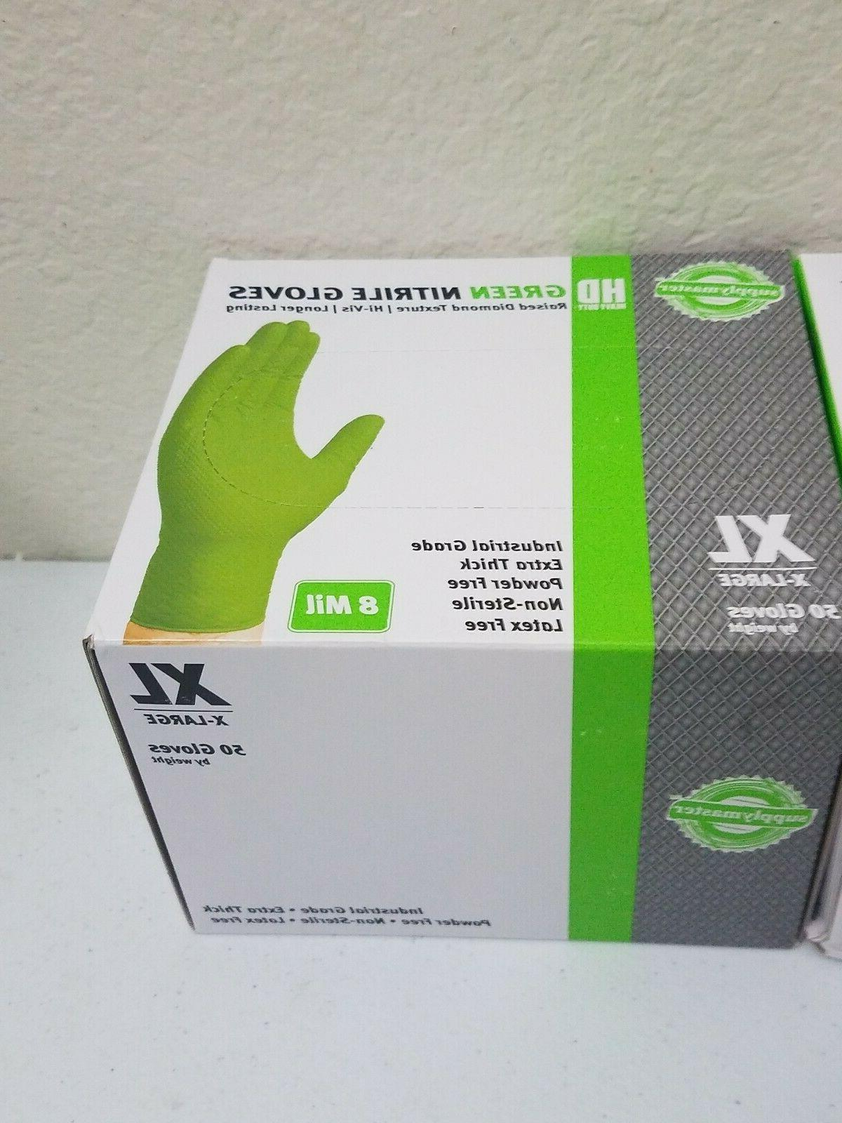 Lot Green Nitrile 8 Mil Industrial Extra Thick
