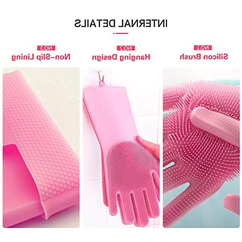 Magic Silicone Dishwashing Scrubber for Cleaning the Car Care,Kitchen Countertops Hair Pair