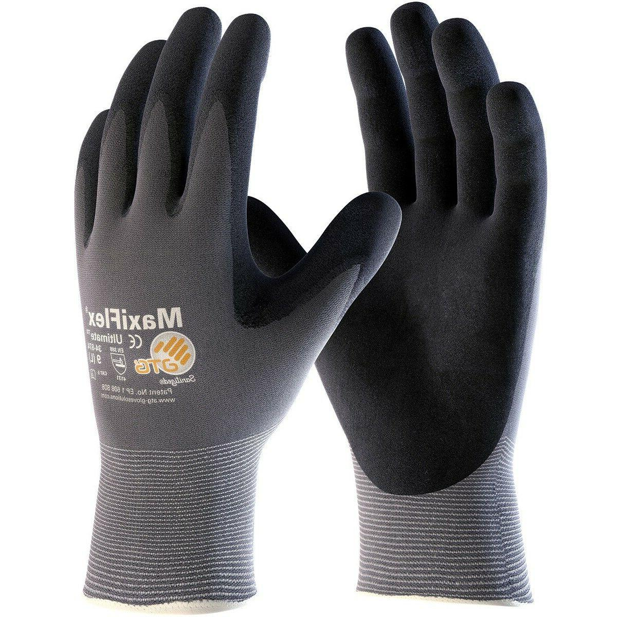 maxiflex ultimate nitrile foam coated knit nylon