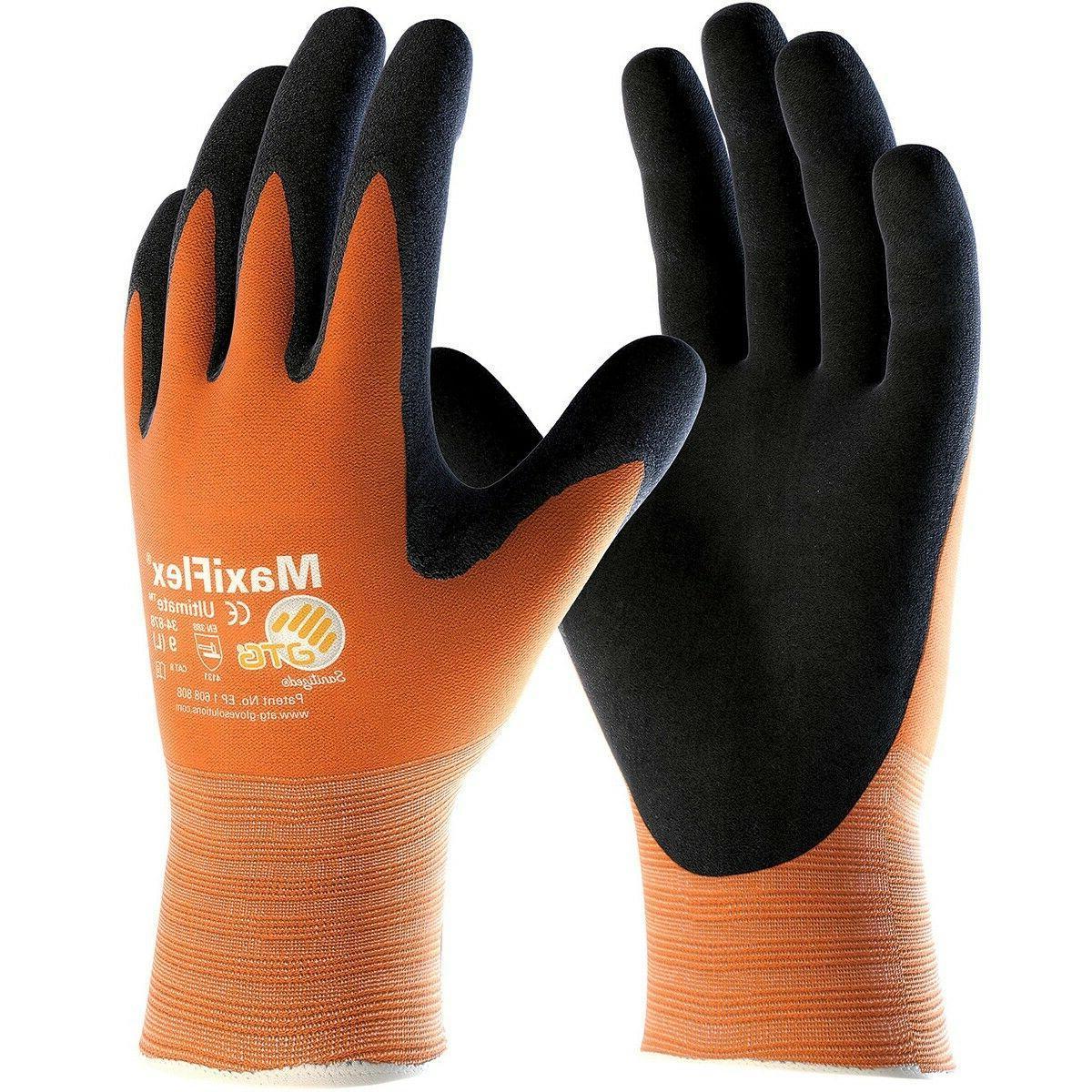 maxiflex ultimate nitrile foam coated nylon work