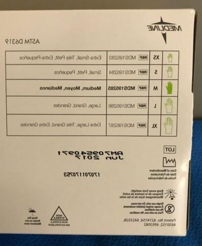 Medline MDS195285 Aloetouch Ice Nitrile Exam - box