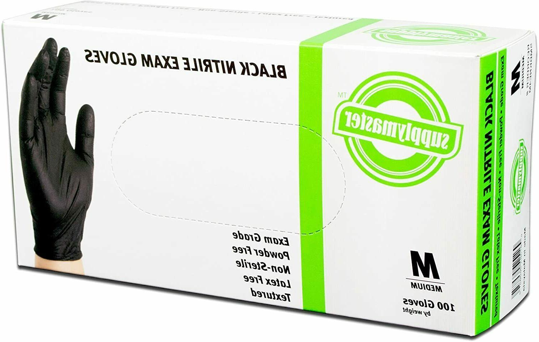 100 PCS Latex Free Powder Free Nitrile Medical Grade Exam Gl