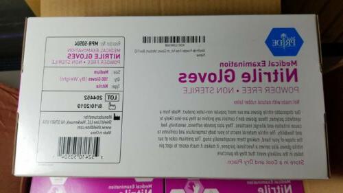 Medium Nitrile Powder Non Sterile Medical Gloves of