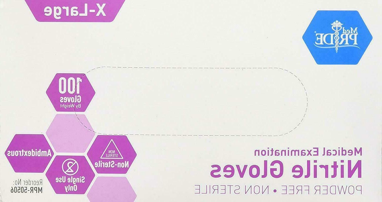 MedPride Powder-Free Exam Gloves Box/100