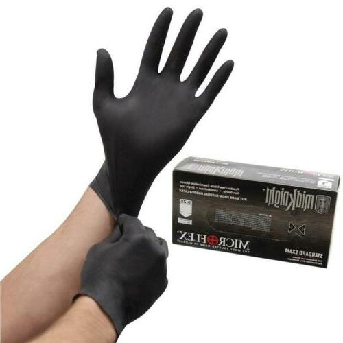 midknight disposable nitrile exam gloves mk 296