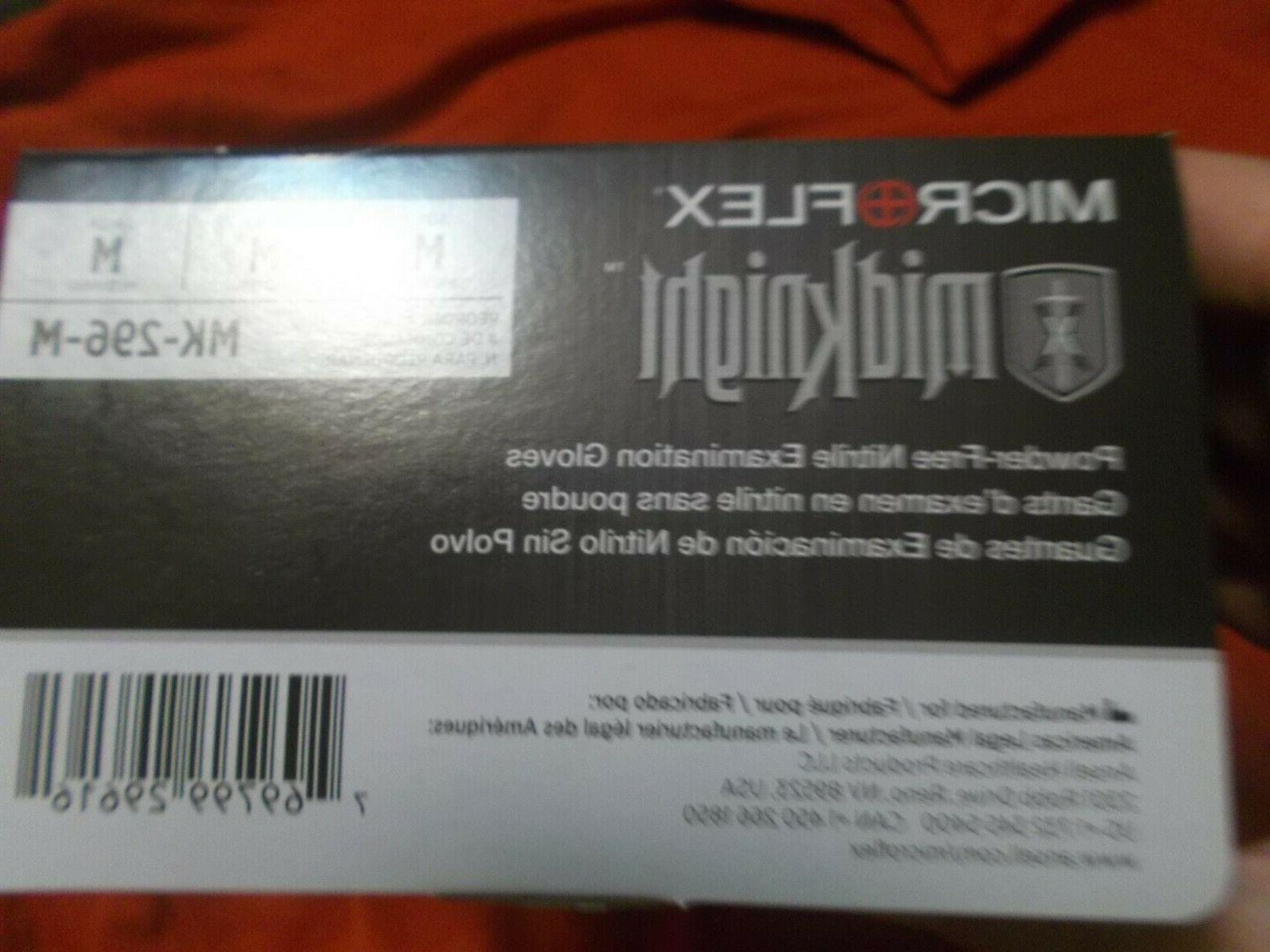 New! 100 Textured Microflex Nitrile Gloves Size M-5.5