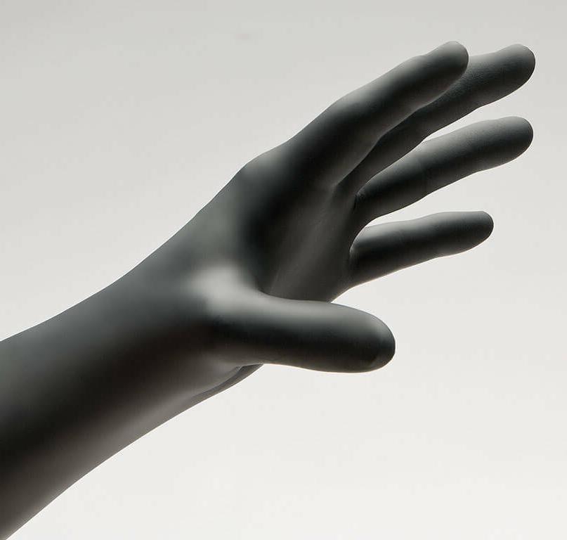 Nitriderm Black Powder-Free Gloves 90 per Box