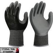 6 pack Showa nitrile 370 B x-large glove, black