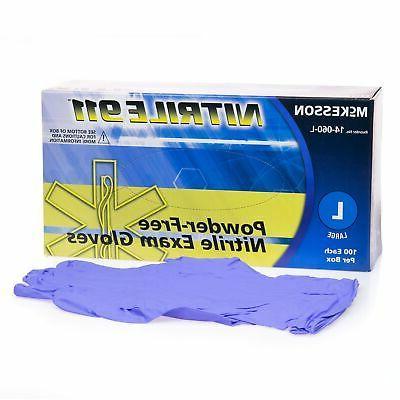 nitrile 911 exam glove powder free large