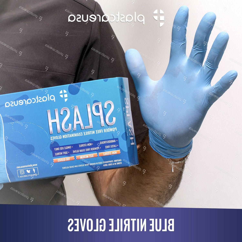 Blue Nitrile Dental EXAM XS-XL