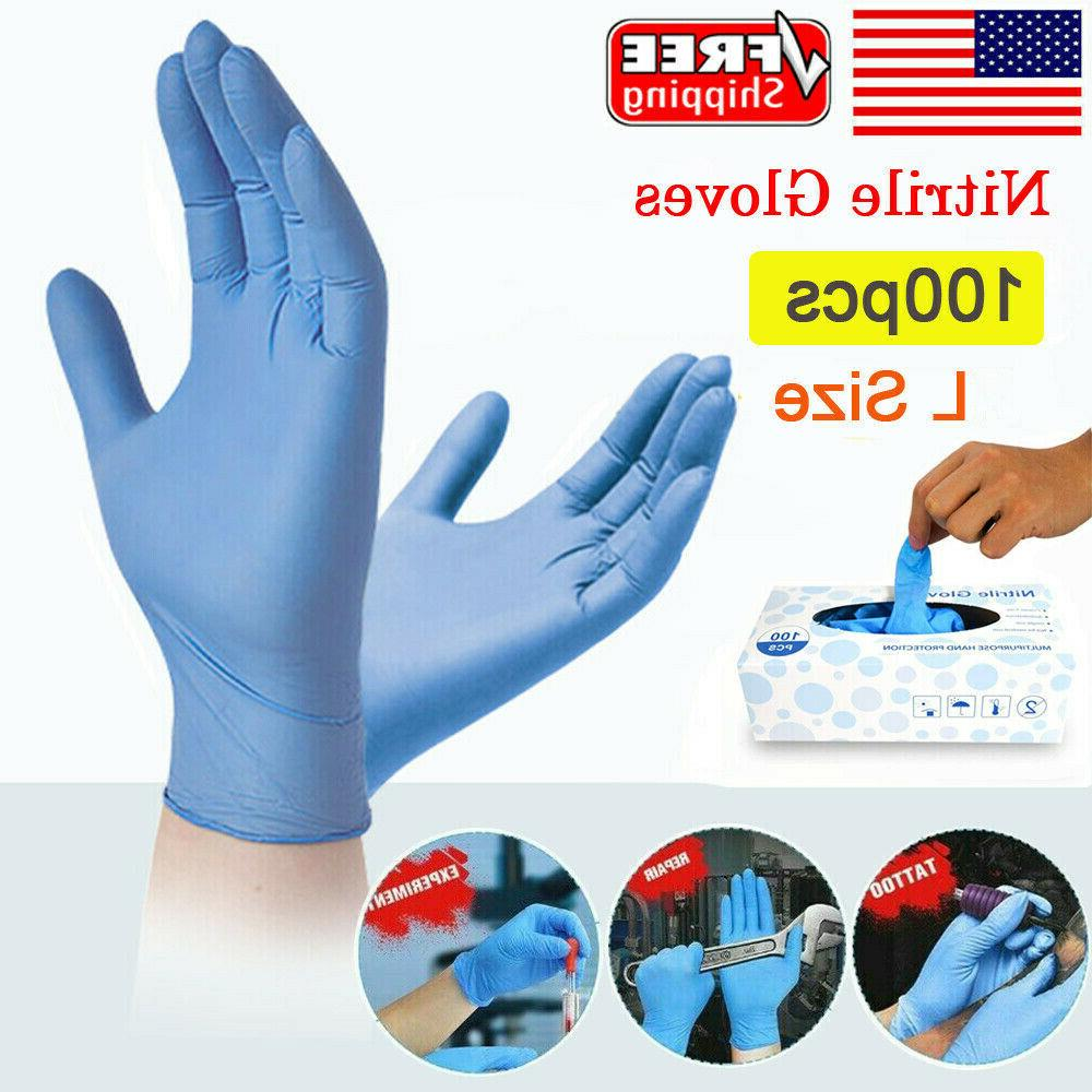 nitrile disposable exam gloves medical grade powder