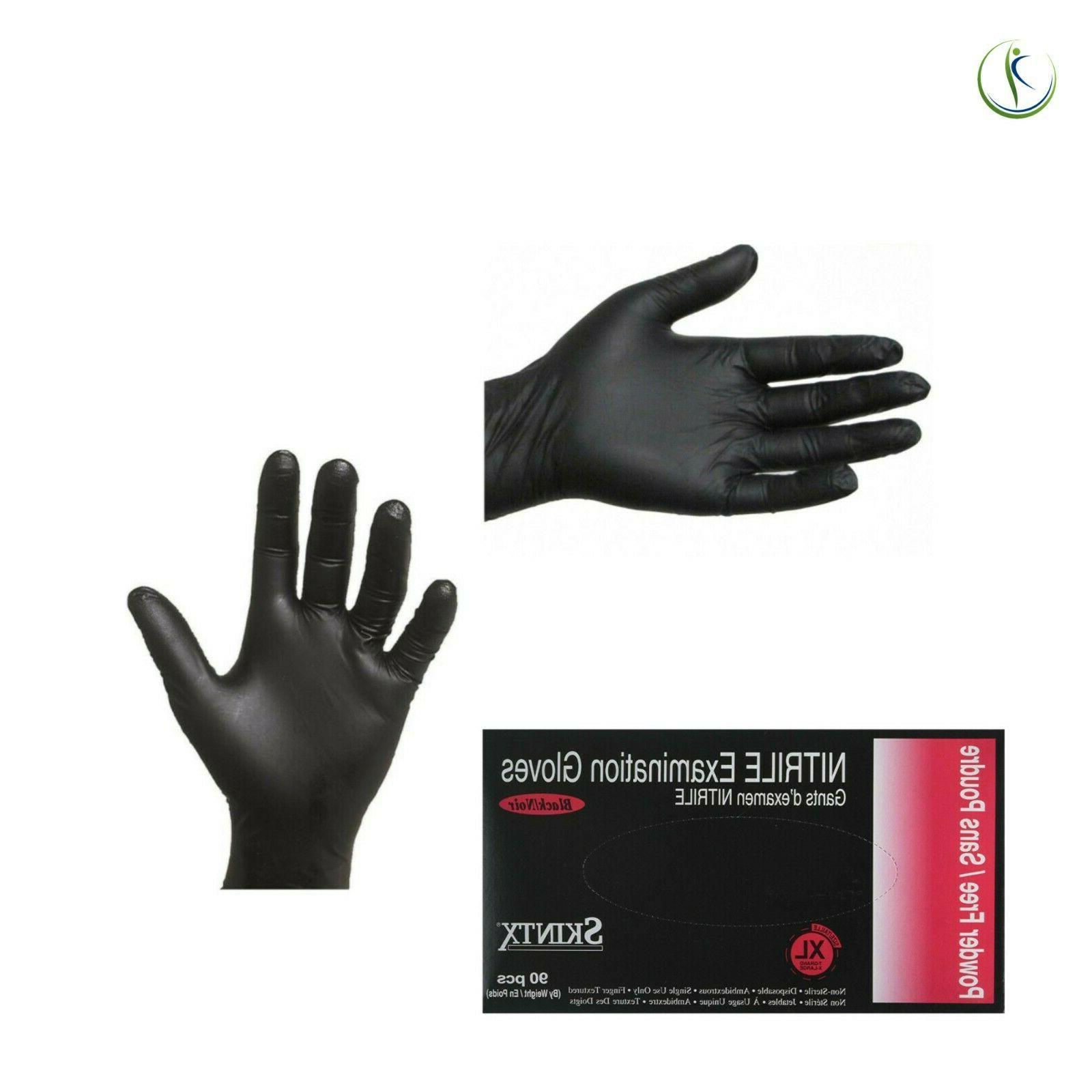 Nitrile Powder-Free Medical Black 5 Mil Box