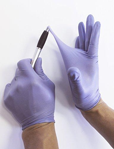 Nitrile Steel Blue Nitrile Gloves - Length, Powder Free, 6 mil Thickness, Large