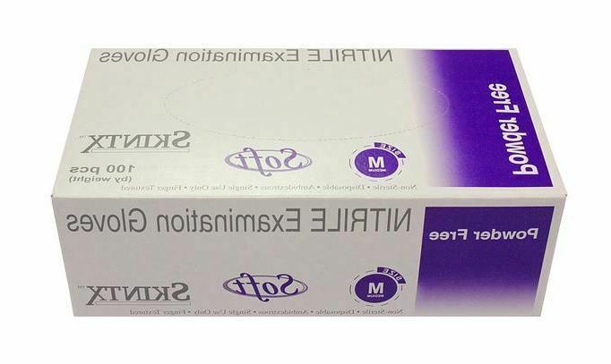 nitrile disposable gloves powder free non allergic