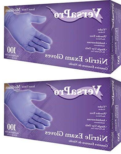 Nitrile Gloves Medical Powder Latex Rubber Non Medium