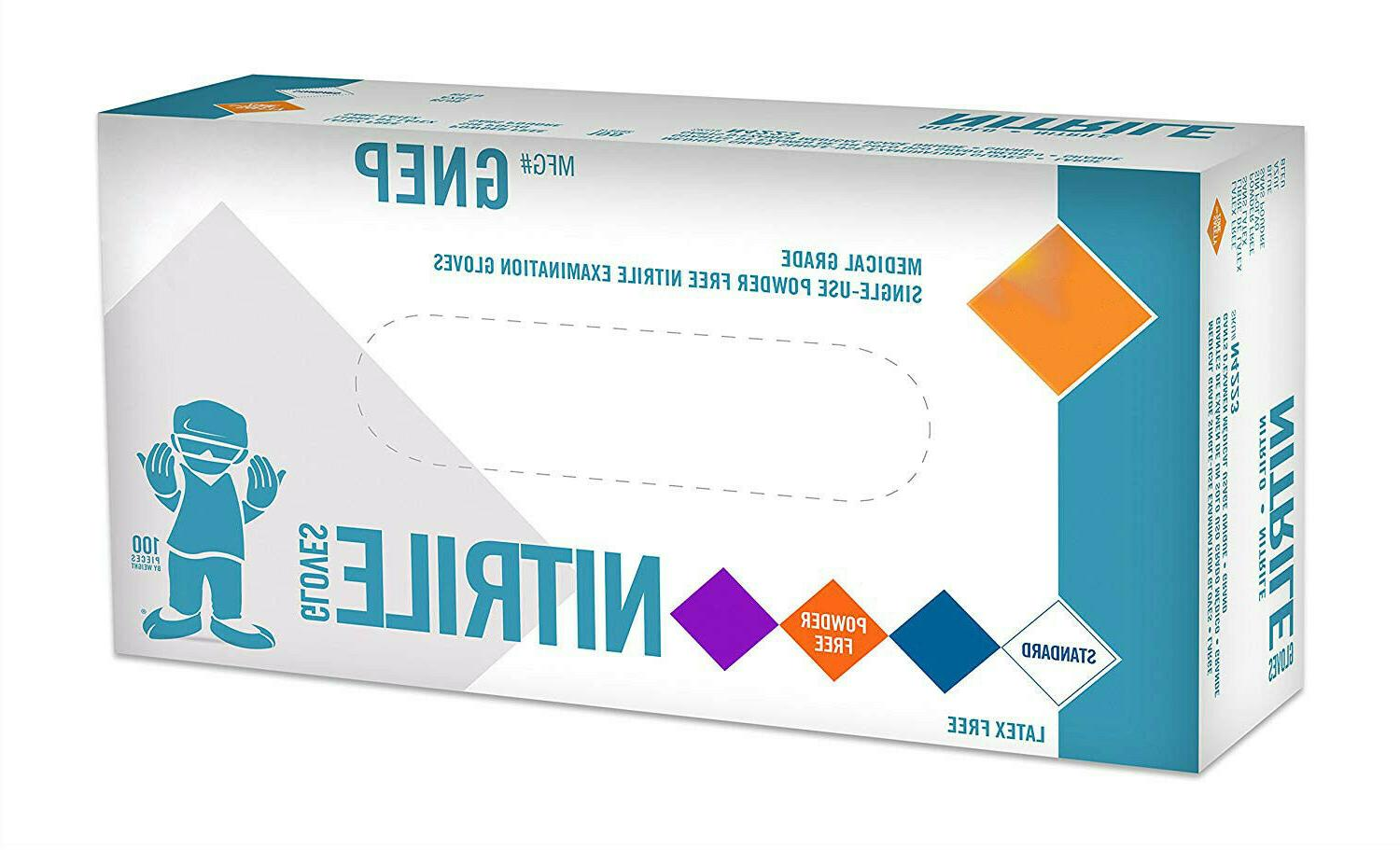 Nitrile Gloves - Medical Powder Free, Latex
