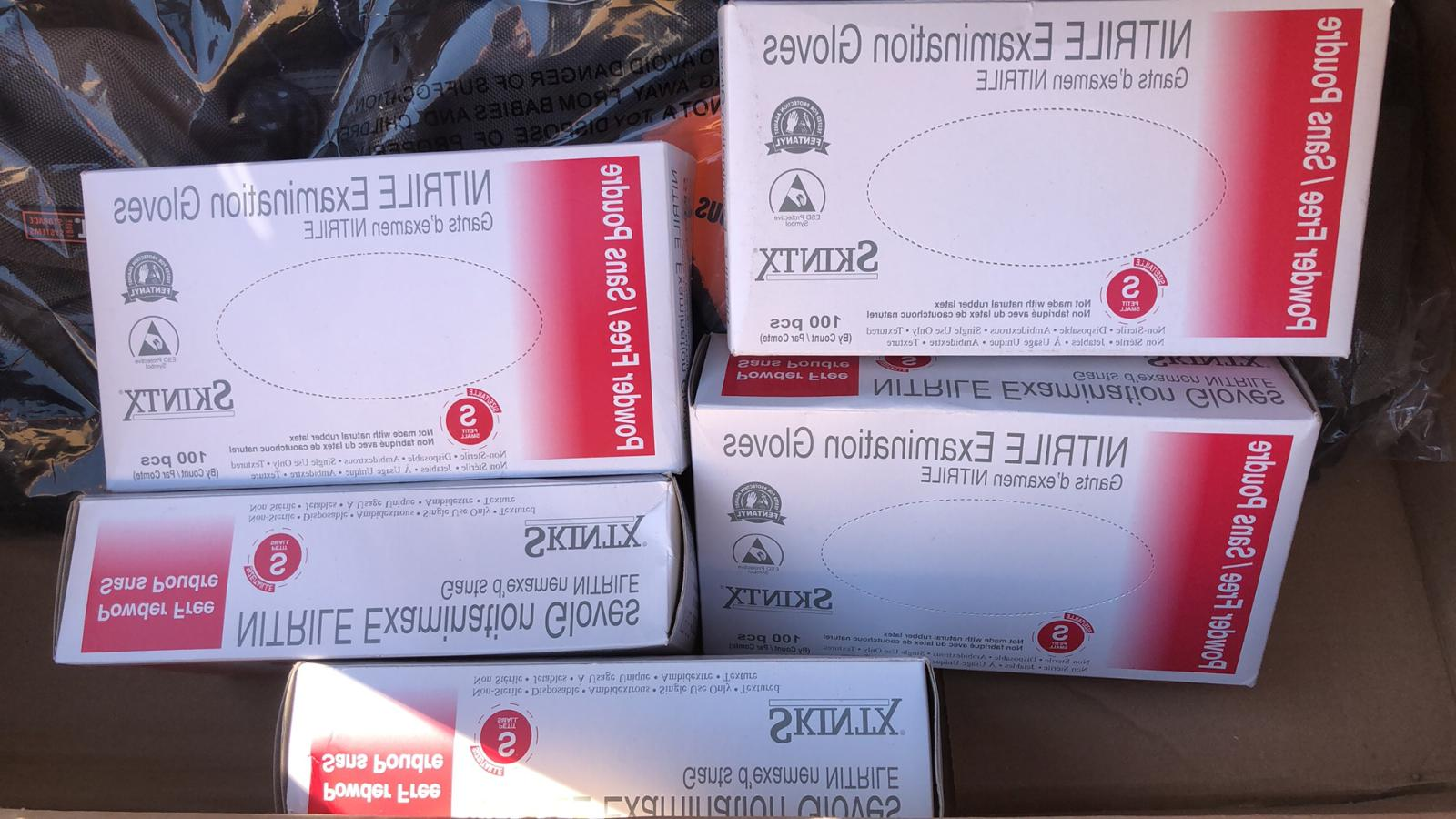 nitrile examination gloves size s 500 gloves