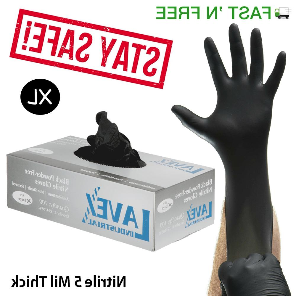 Nitrile Gloves 100 pcs X Large 5 Mil