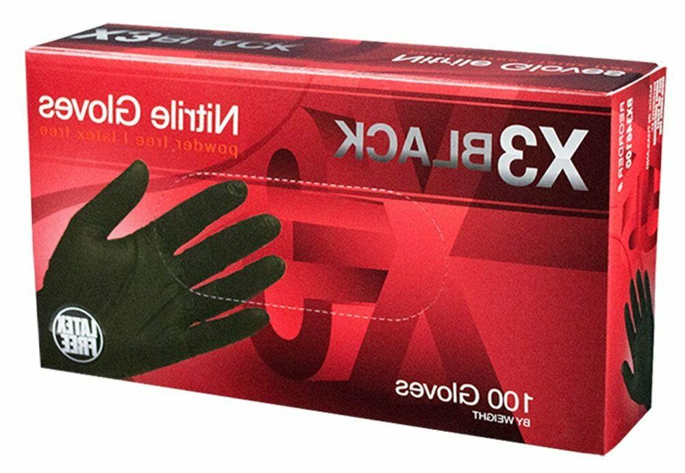nitrile gloves disposable powder free latex free