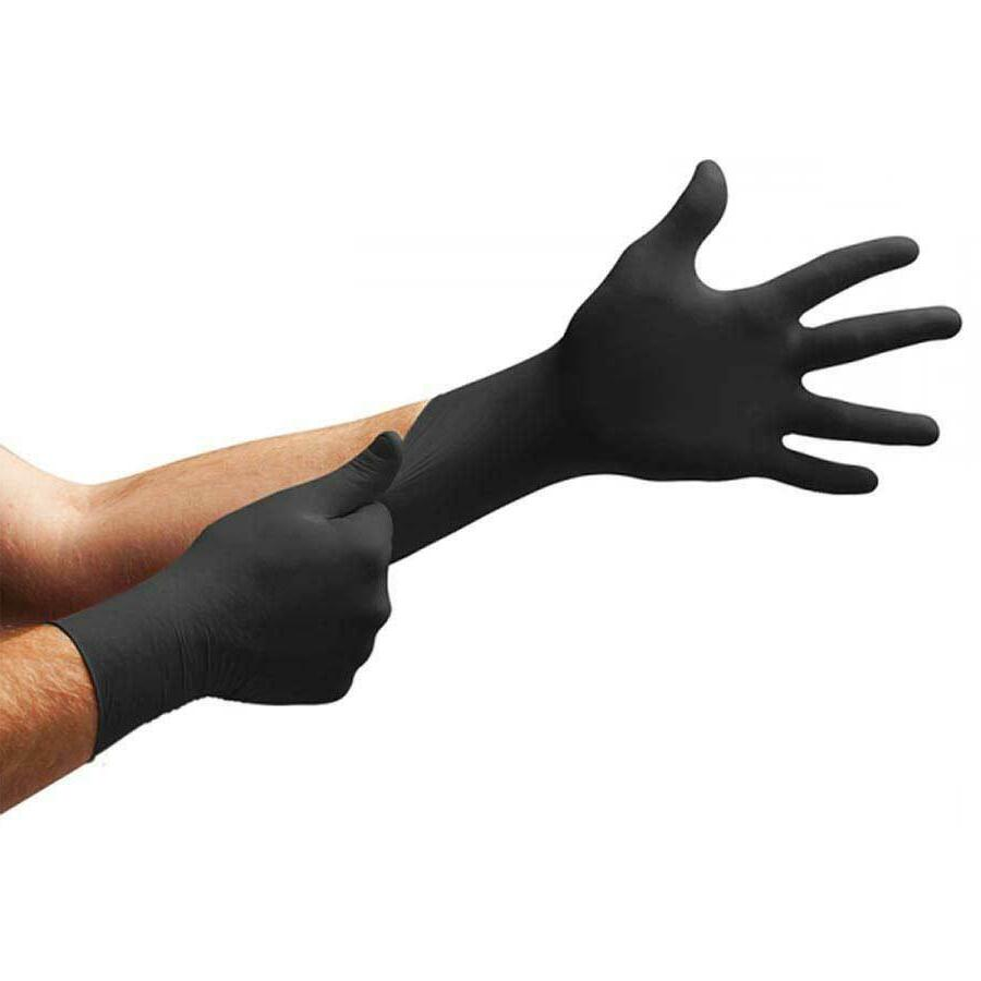 BLACK Nitrile Gloves Powder free Gloves 100 200