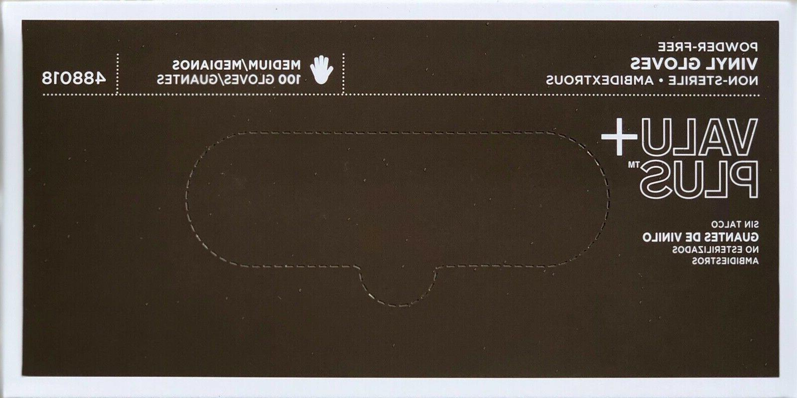 Nitrile Latex Gloves / Vinyl S M XL Examination 50 / 100 /