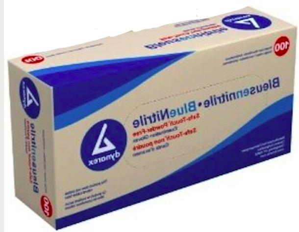 nitrile gloves non latex powder free blue