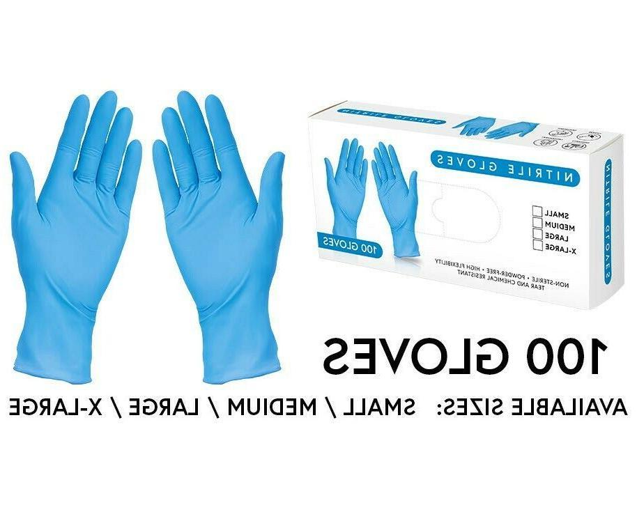 Nitrile Gloves, Powder and Latex Free Blue 100ct Small Mediu