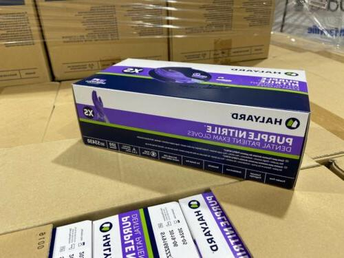 nitrile gloves purple size xs box of