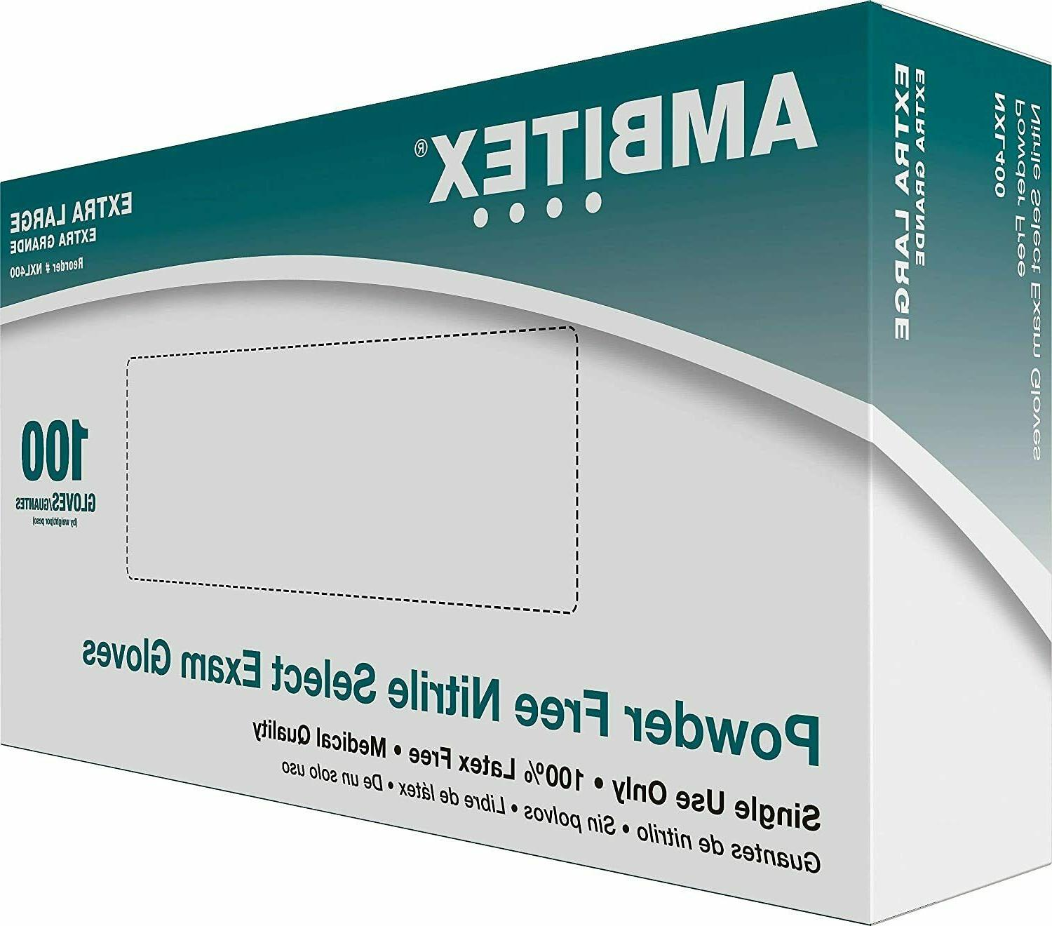 Ambitex Nitrile - Large 100/box - Boxes****