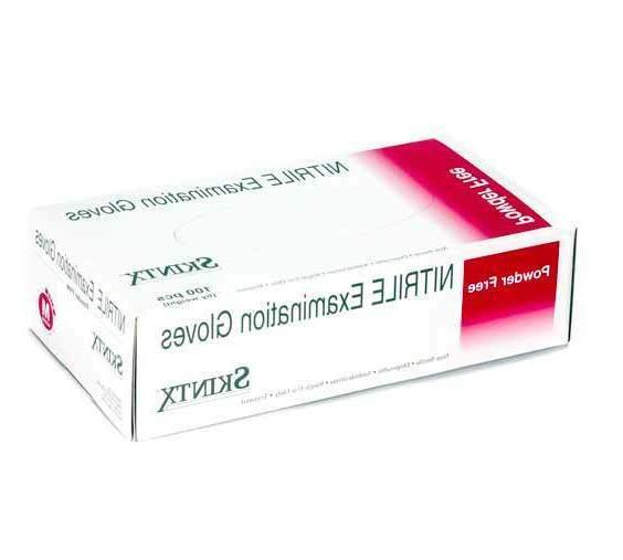Skintx Nitrile Powder-Free Disposable Exam Gloves - Small -
