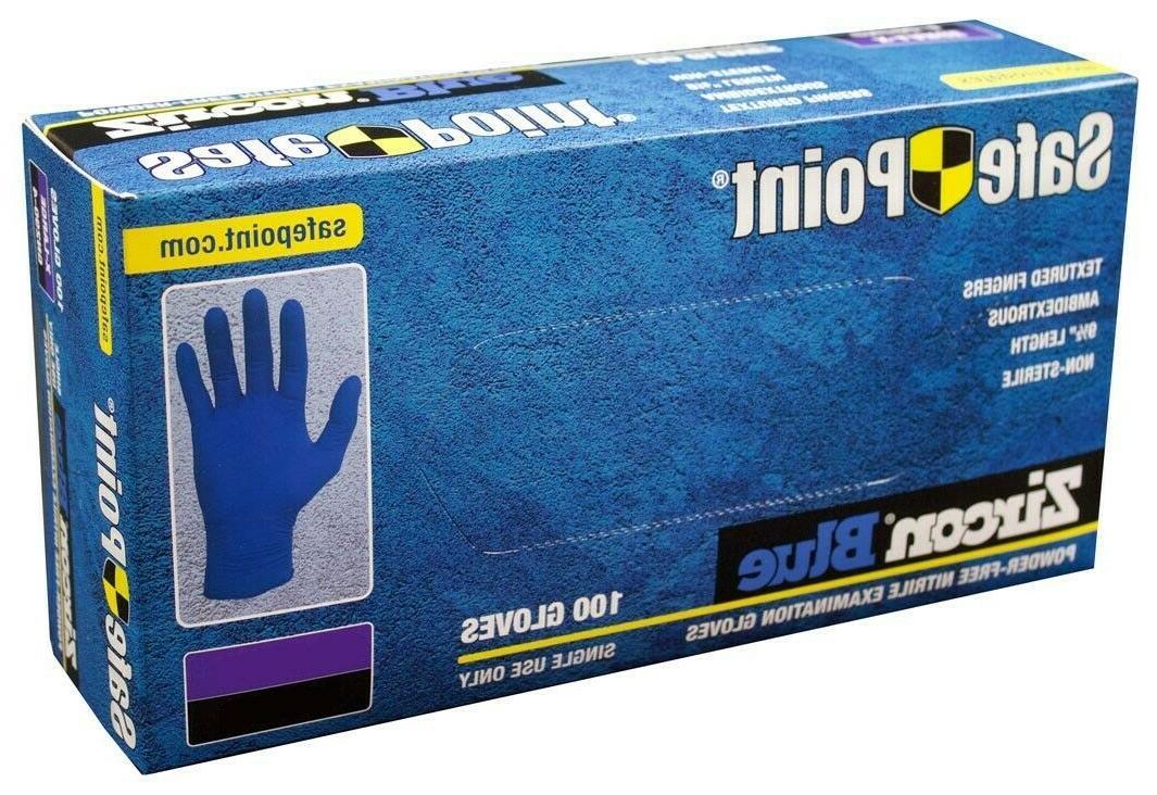 nitrile powder free exam rubber gloves 100