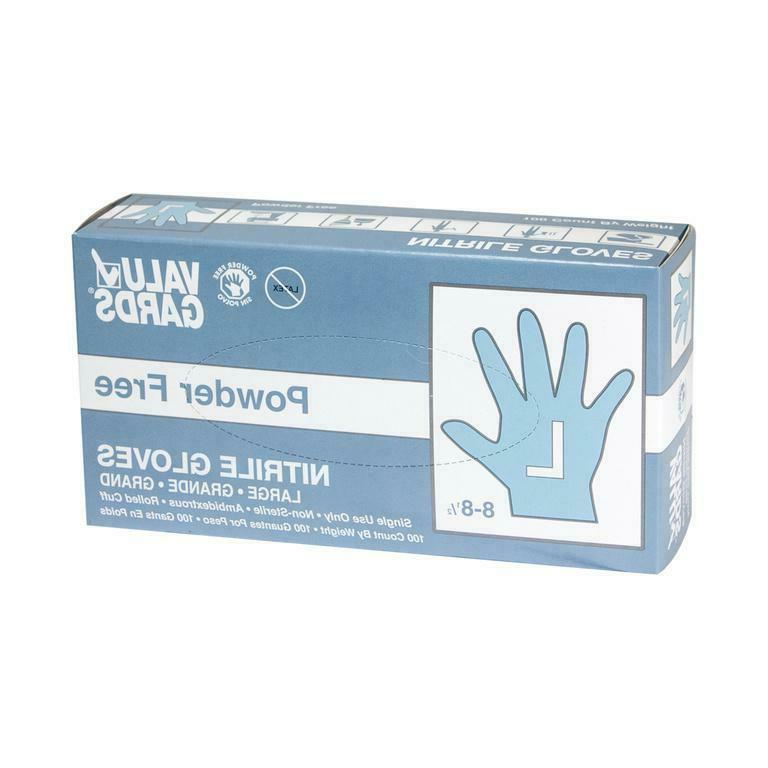 Nitrile Free Gloves 100 Count Valugards