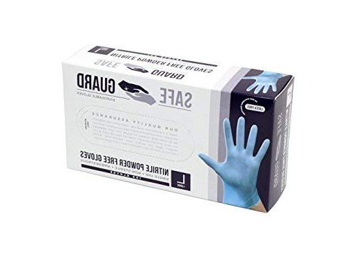 SAFEGUARD Powder Free Gloves, Blue, Count