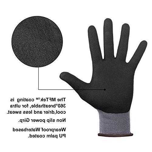 DS Safety NP1001 Knit Work Gloves Micro Technology Spandex Liner Nitrile Work CE 15 gauge Design Men's 12Pairs