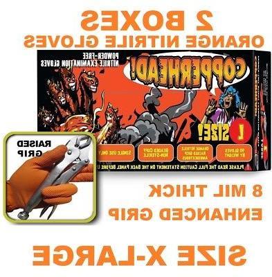XXL Case of 900 Tiger Grip 8846 Orange Superior Grip Disposable Nitrile Gloves