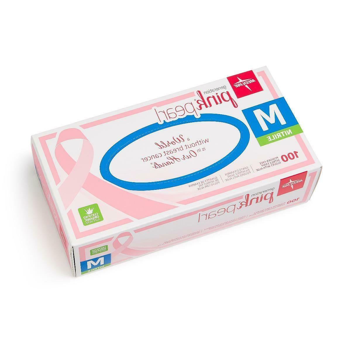 pink pearl nitrile exam gloves box of