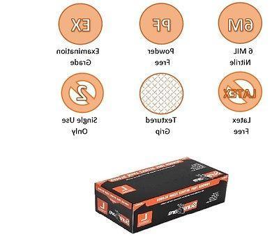 POWDER Safety-Orange Nitrile 100/Box