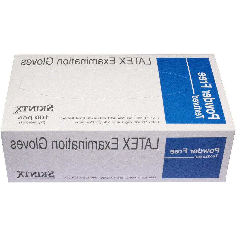 Skintx Powder-Free Latex Exam Gloves - Case of 1000