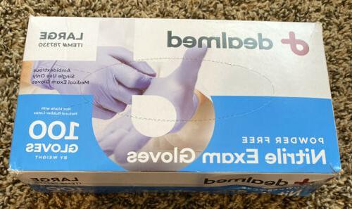 powder free nitrile exam gloves 100 gloves