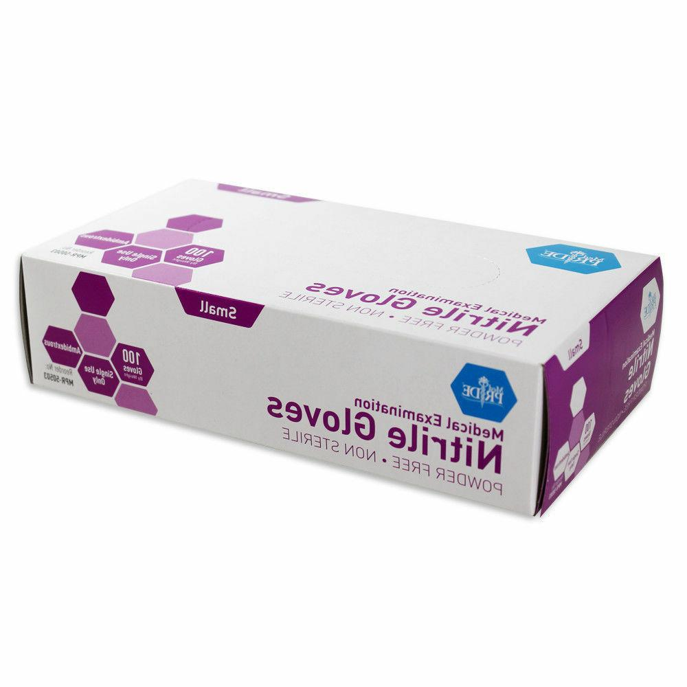 powder free nitrile exam gloves box 100