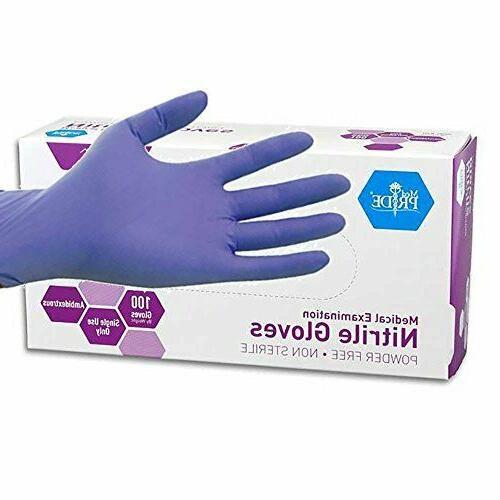 powder free nitrile exam gloves medium box
