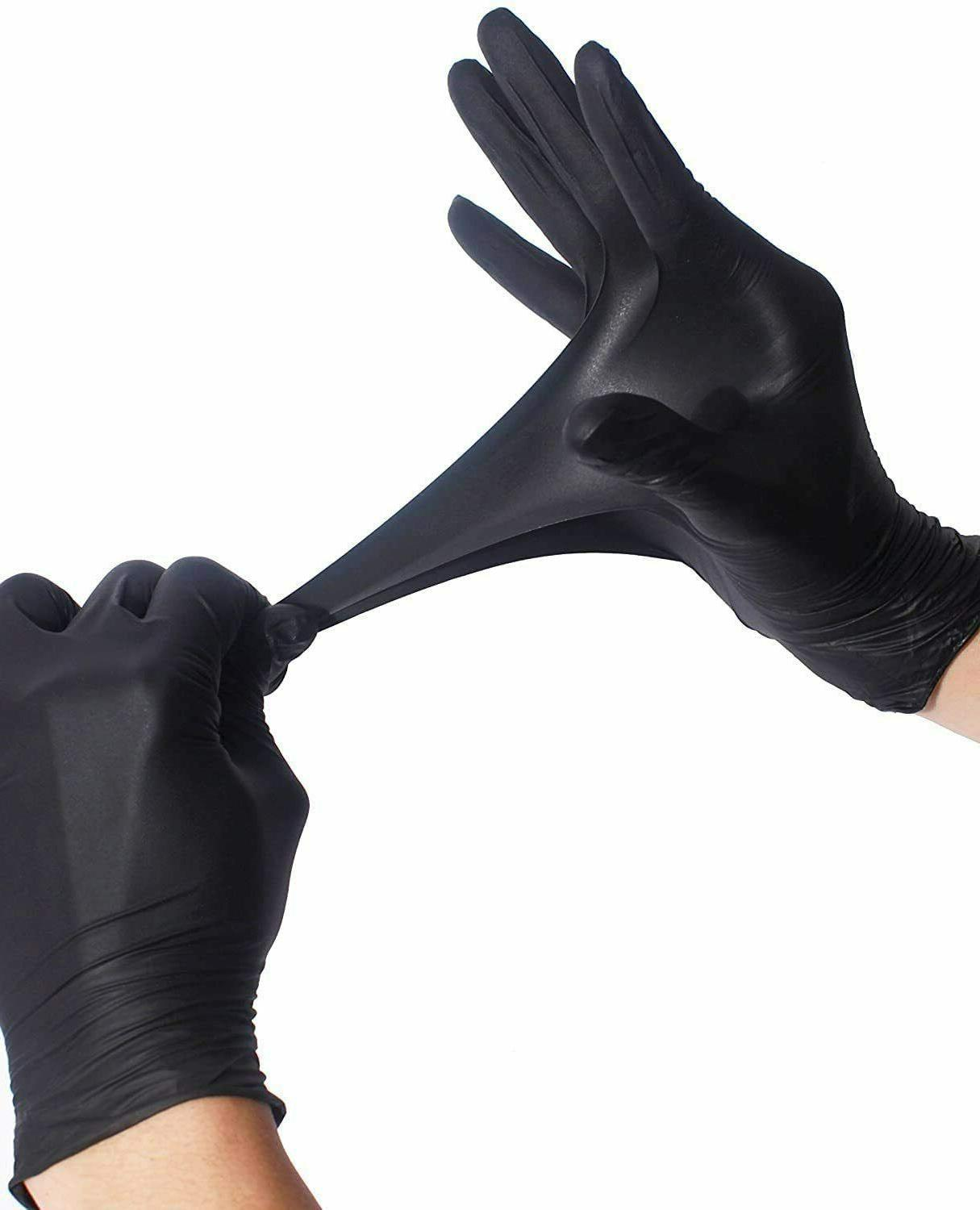 50 Black Nitrile-PVC & free Gloves Size L XL in stock