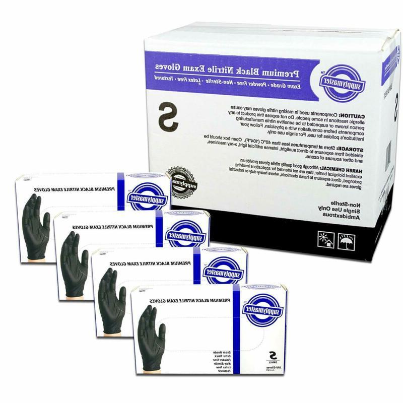 premium black nitrile exam disposable gloves 6